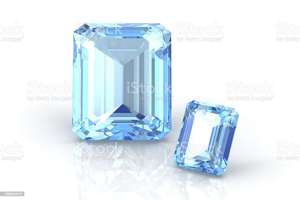aquamarine ,topaz stock photo