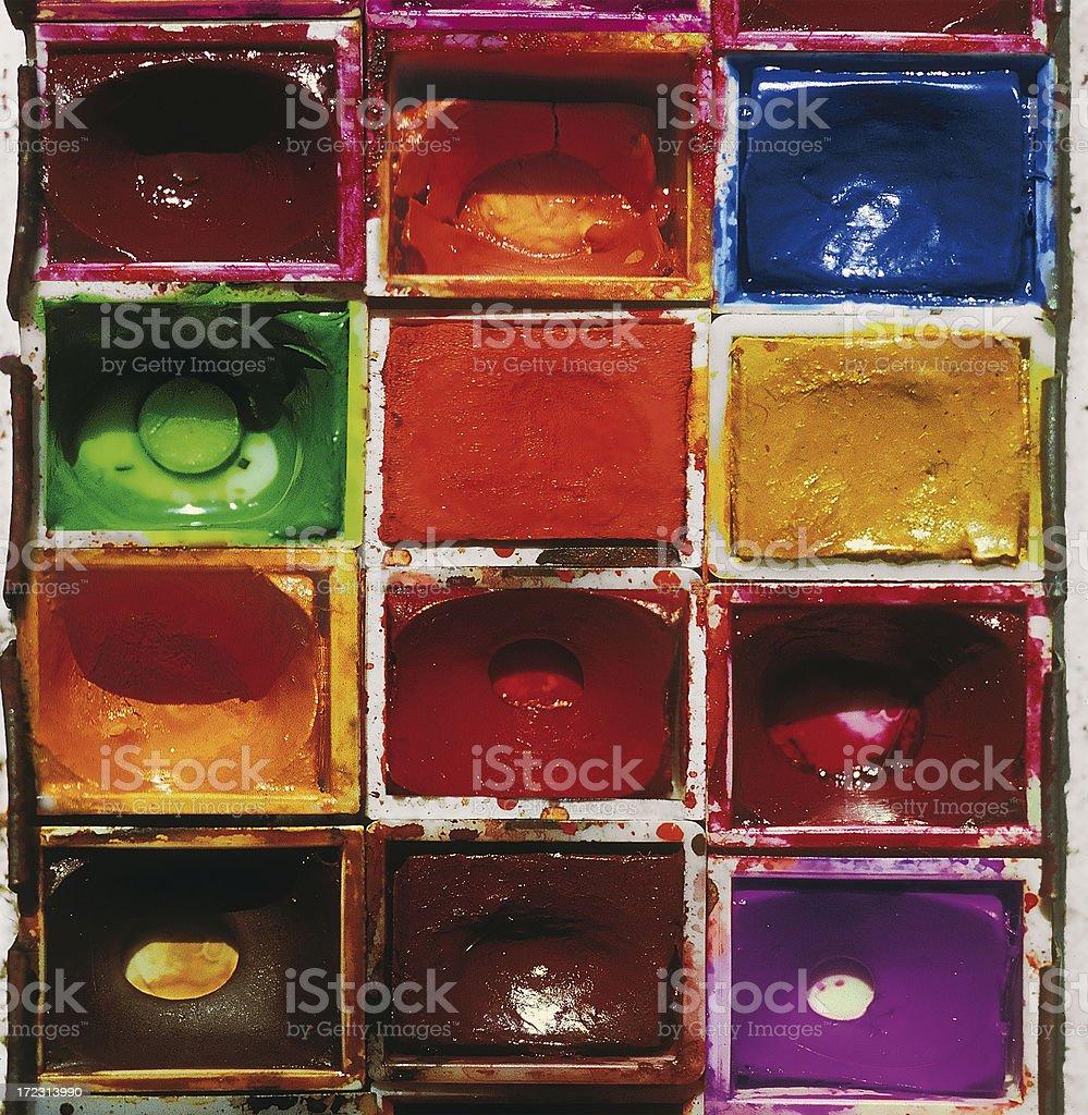 Aquarel tablets. royalty-free stock photo