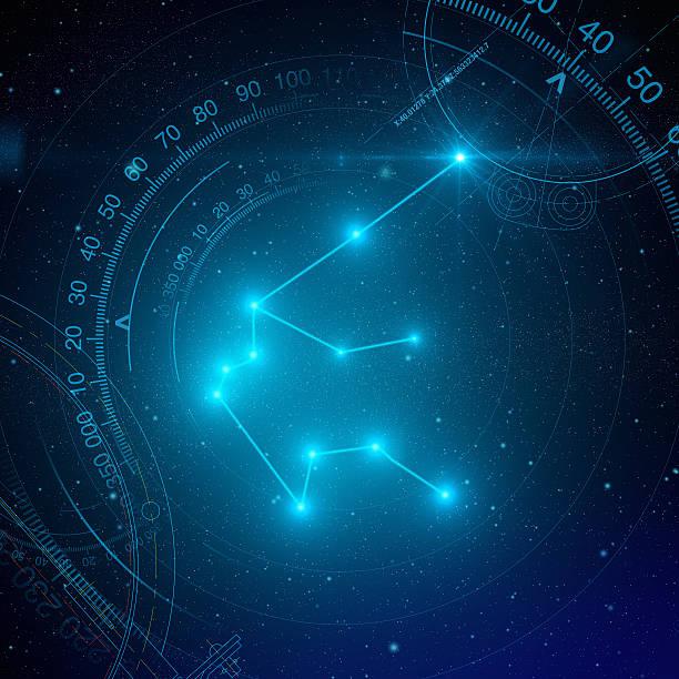 Aquarius Constellation stock photo