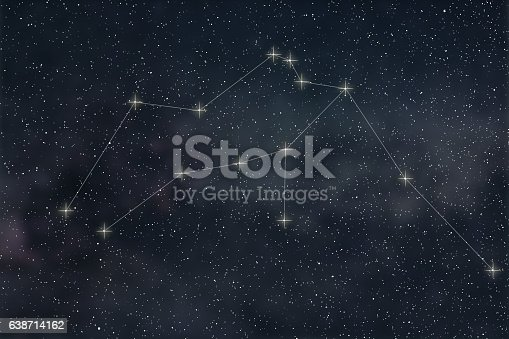 istock Aquarius Constellation. Zodiac Sign Aquarius constellation lines 638714162