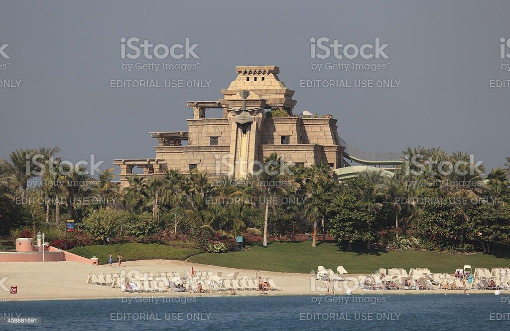 Aquaventure water park in Dubai stock photo