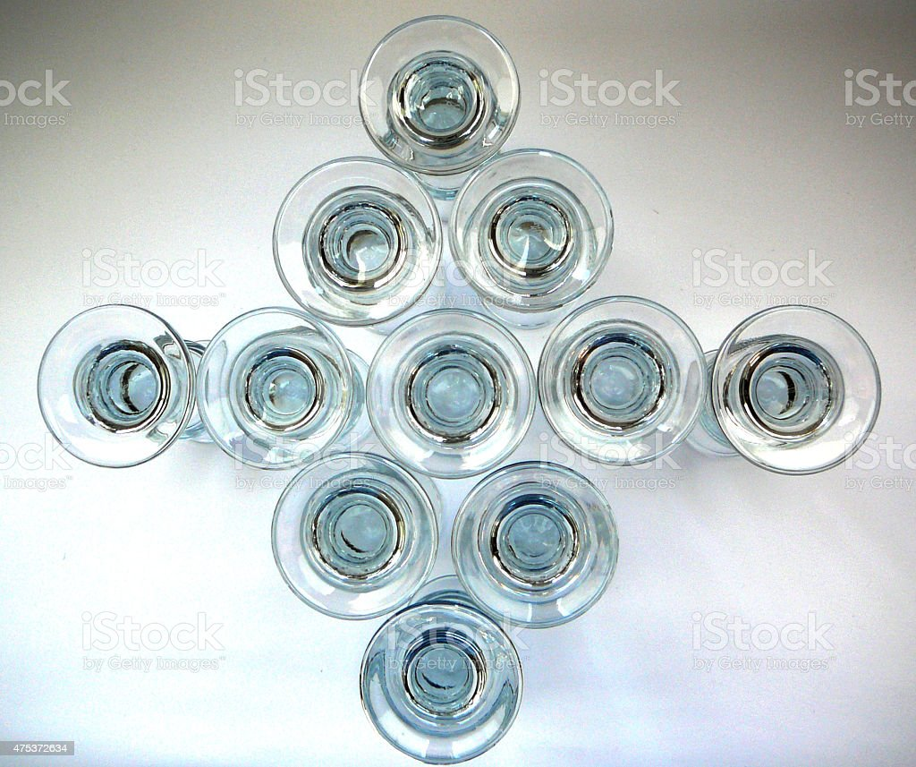 Aquavit glasses stock photo