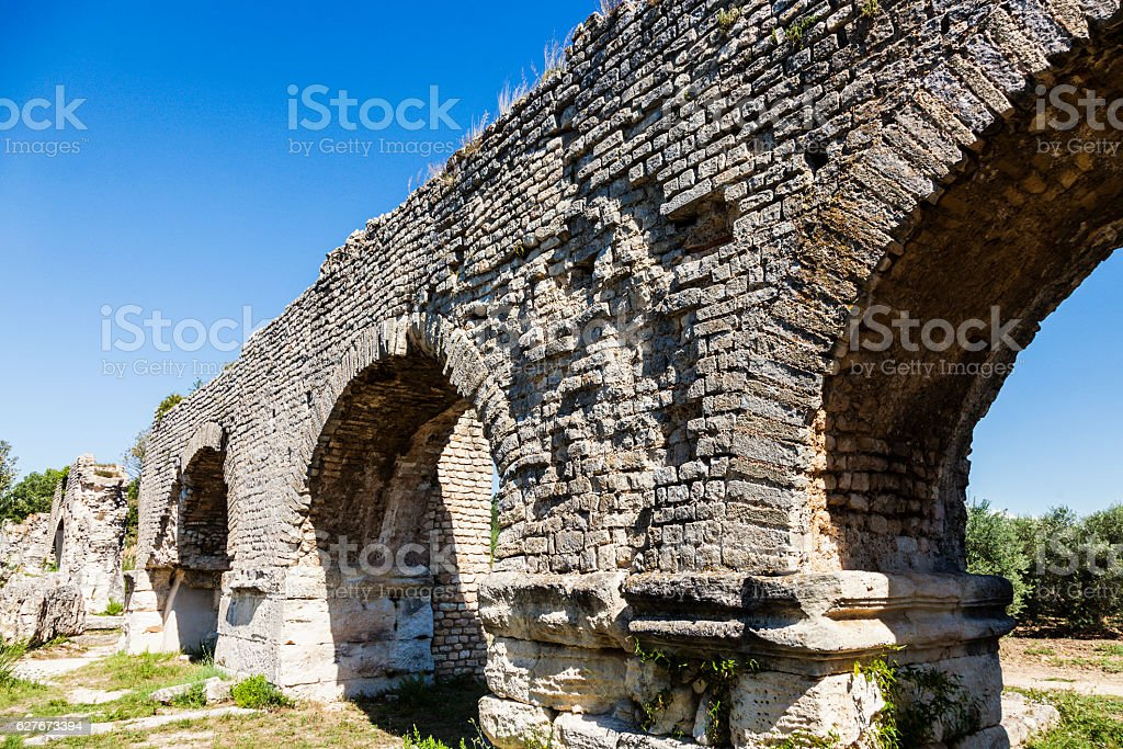 Aqueduc Romain de Barbegal stock photo