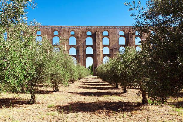 aqueduto amoreira elvas, portugal - portalegre imagens e fotografias de stock