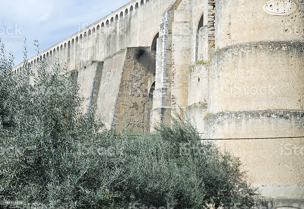 Aqueduct at Elvas in Portugal royalty-free stock photo