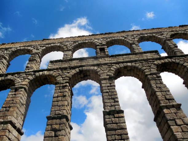 Aqueduct of Segovia, Spain stock photo