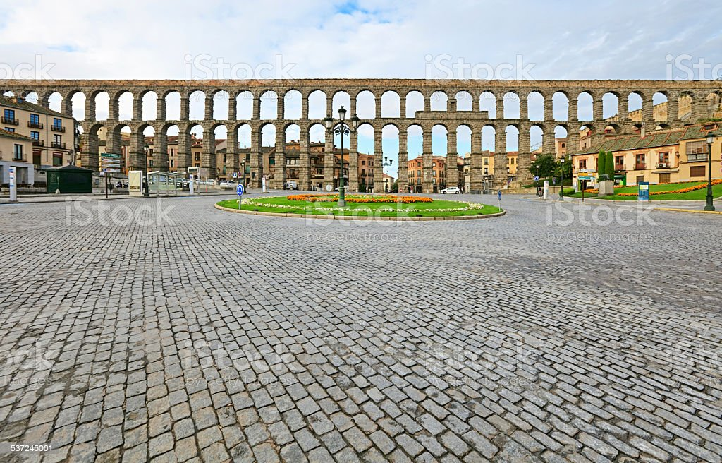 Aqueduct of Segovia, Spain stock photo