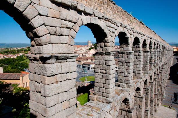 Aqueduct of Segovia - Spain Aqueduct of Segovia - Spain cerebral aqueduct stock pictures, royalty-free photos & images