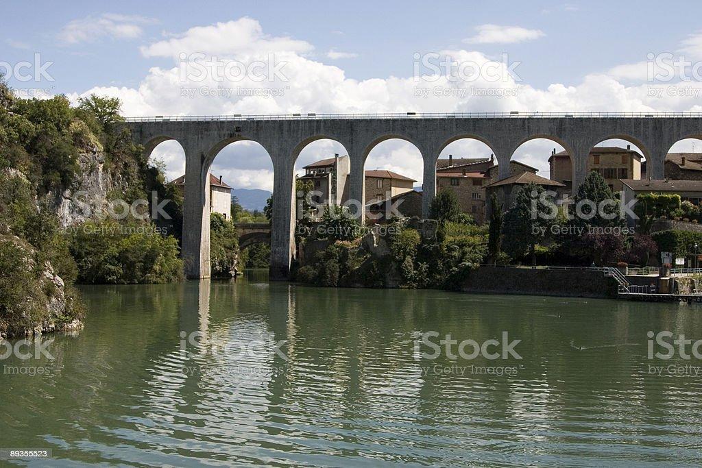 Acquedotto di St Nazaire en Vercors Royans (regione, Francia foto stock royalty-free
