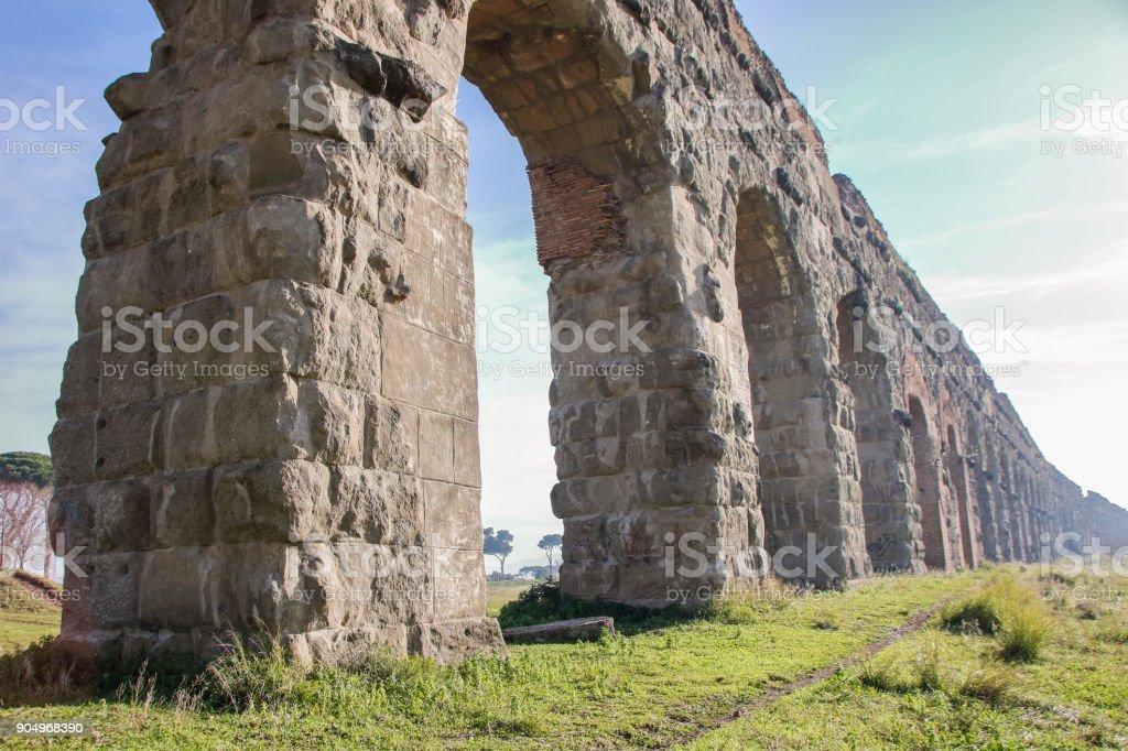 Aqueduct park on Appia street - foto stock