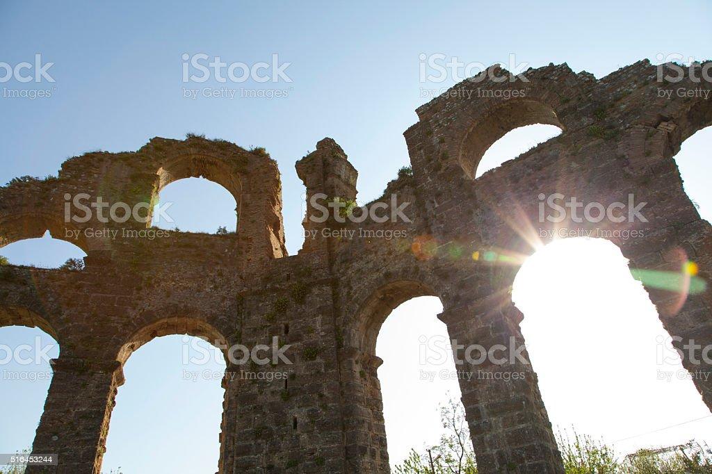 Aqueducts stok fotoğrafı