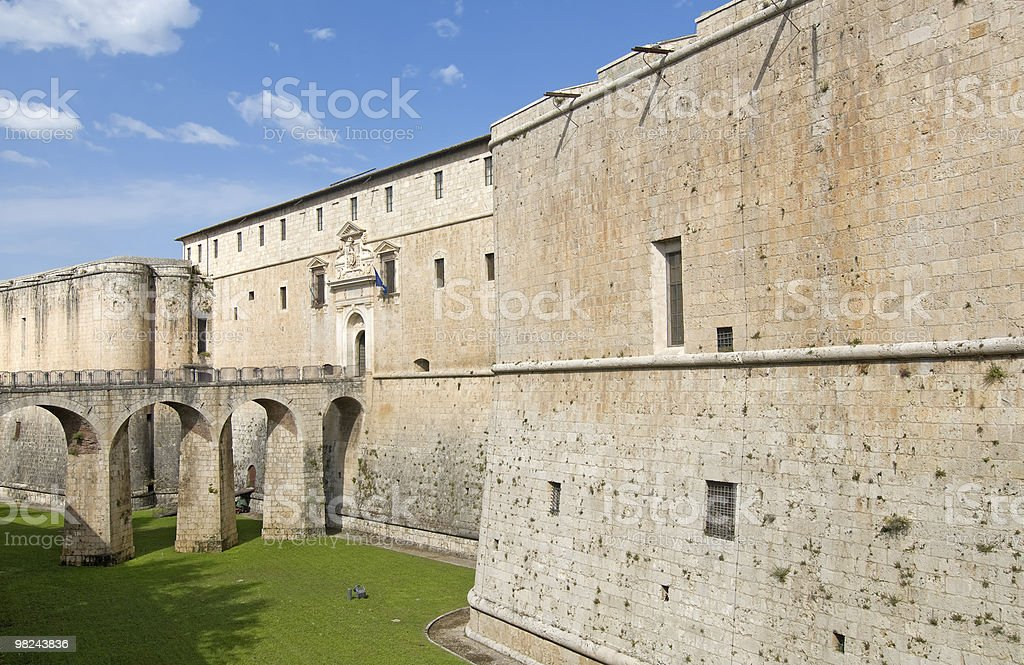 L'Aquila (Abruzzi, Italy) - Ancient Castle royalty-free stock photo