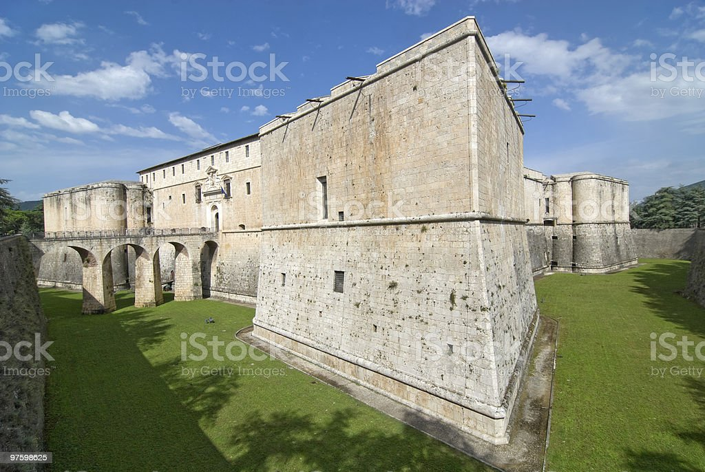 L'Aquila - Spanish Fortress royalty-free stock photo