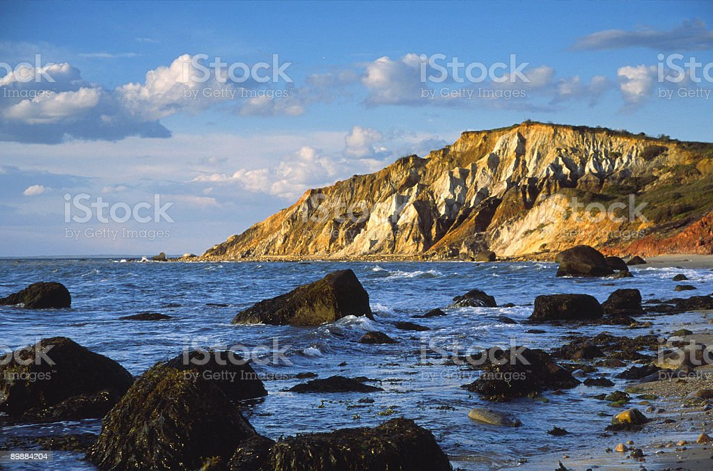 Aquinnah cliffs on martha's Vineyard royalty-free stock photo