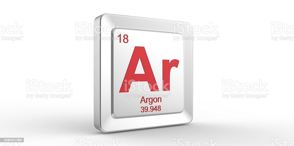 Ar Symbol 18 Material For Argon Chemical Element Stock Photo More