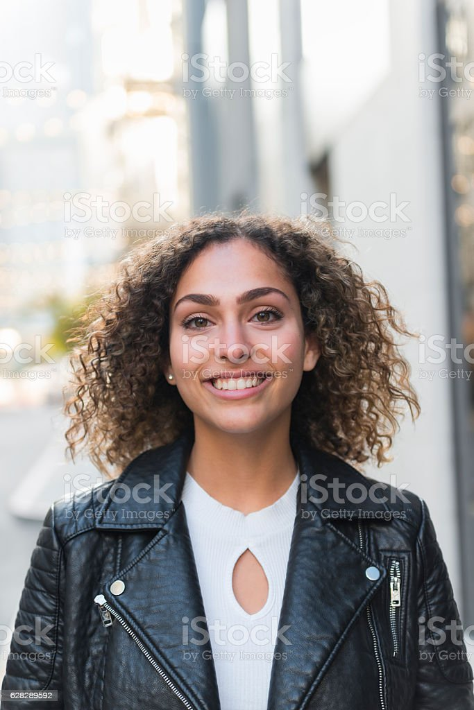 Arab American woman stock photo