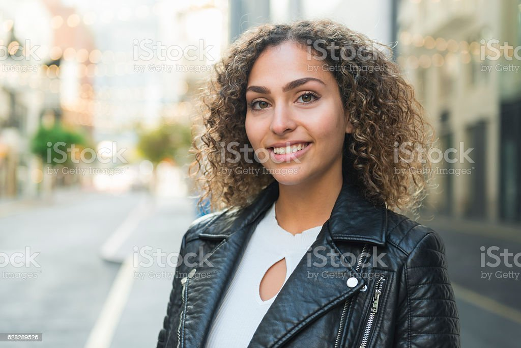 Arab American young woman stock photo