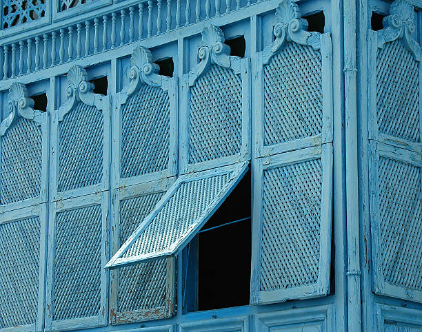 Arab balcony in Sidi Bou Said - foto de stock