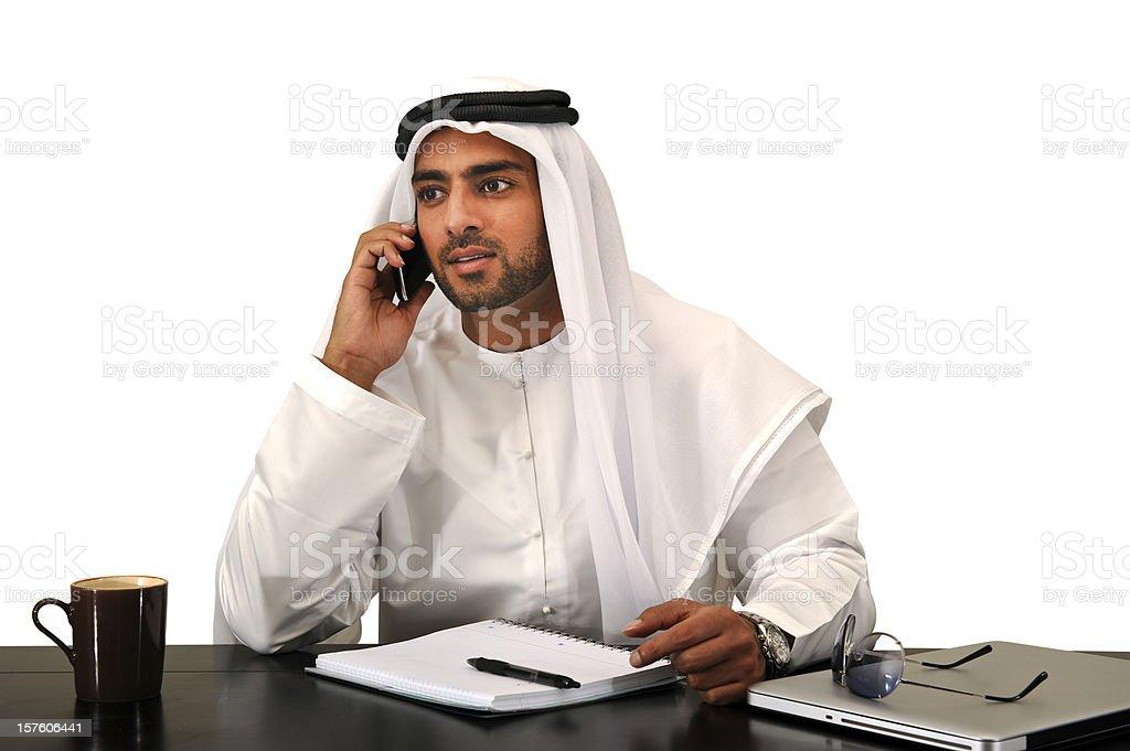 Arab business man. royalty-free stock photo