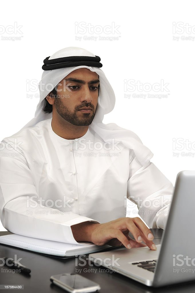 Arab business man working royalty-free stock photo