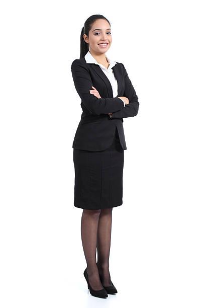 arab business ständigen zuversichtlich frau posieren happy - geschäftskleidung stock-fotos und bilder