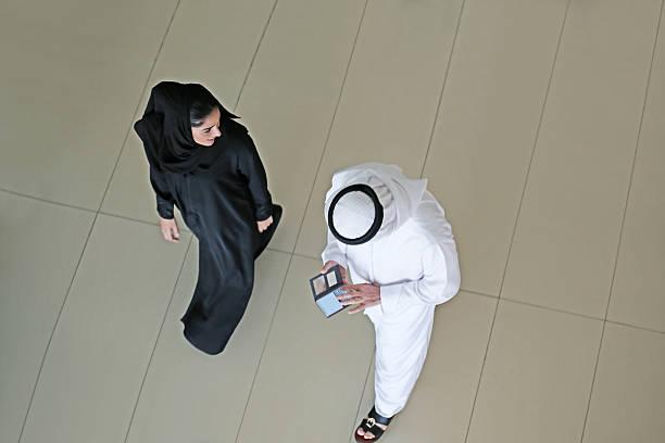 Arab par de la vista superior - foto de stock