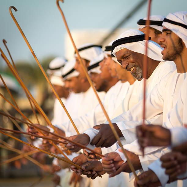 arab dance - uae national day stok fotoğraflar ve resimler