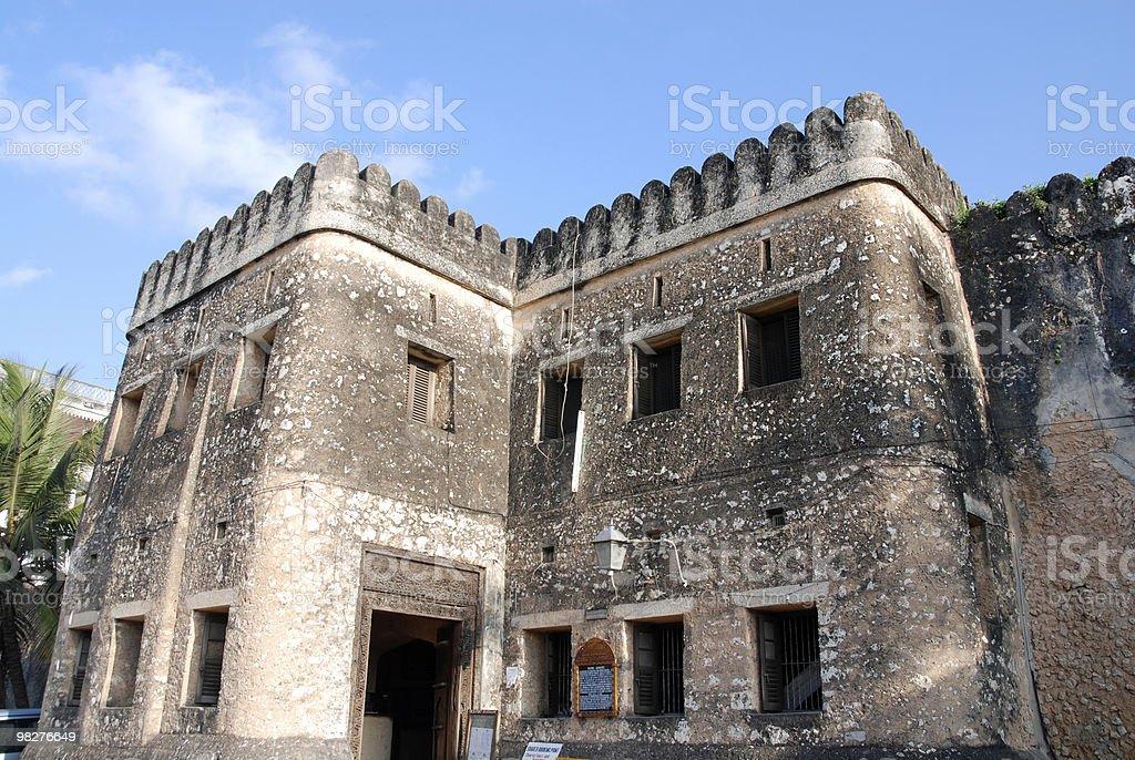 Arab fort on Stone Town, Zanzibar royalty-free stock photo