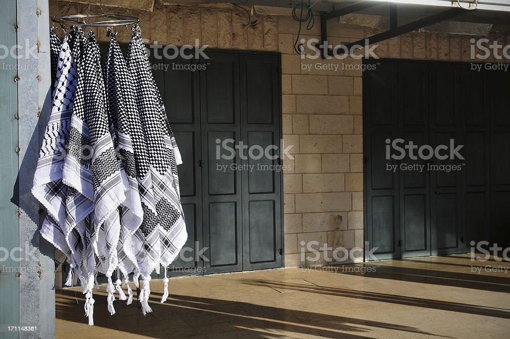 Arab keffiyehs stock photo