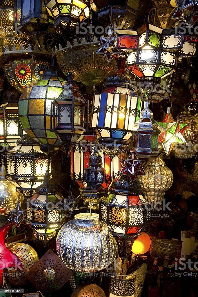 Arab lamps stock photo