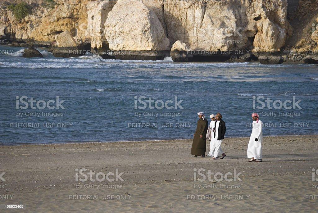 Arab Men on the Beach royalty-free stock photo