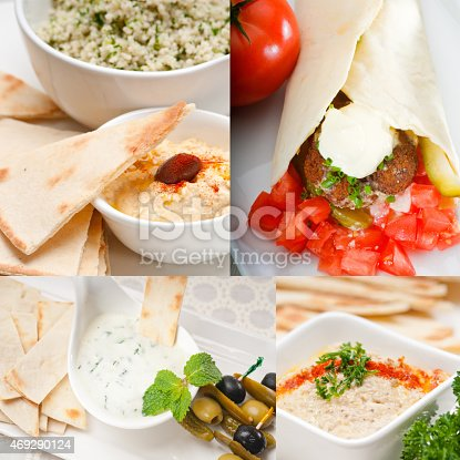 istock Arab middle east food collection 469290124