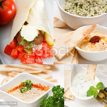 istock Arab middle east food collection 470145046