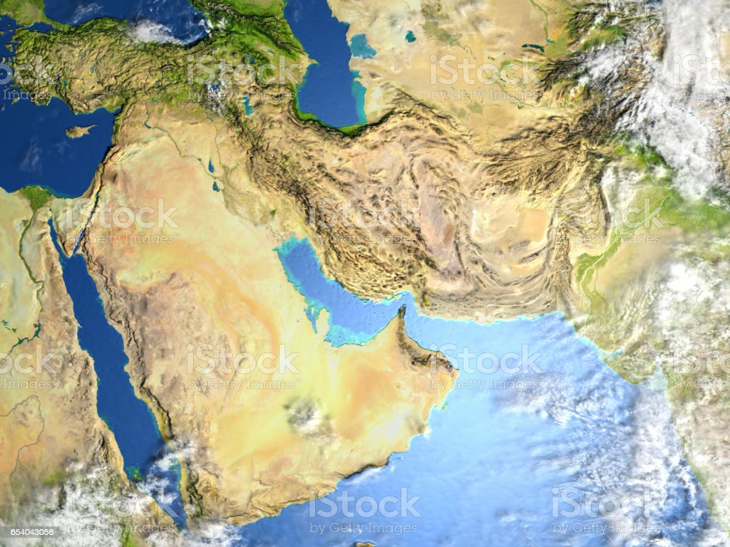 Arab Peninsula on planet Earth stock photo