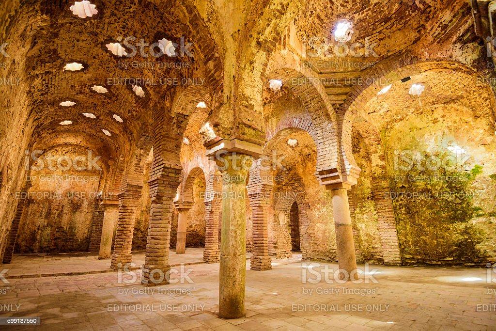 Arab Public Baths of Ronda stock photo