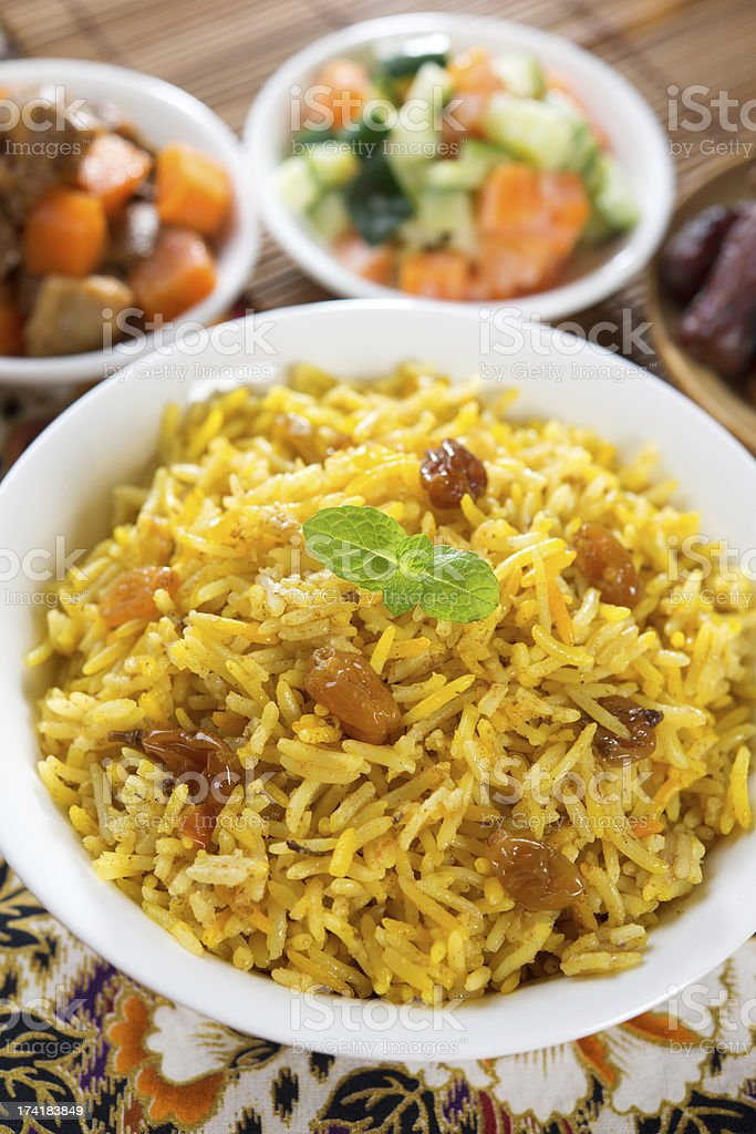 Arab rice stock photo