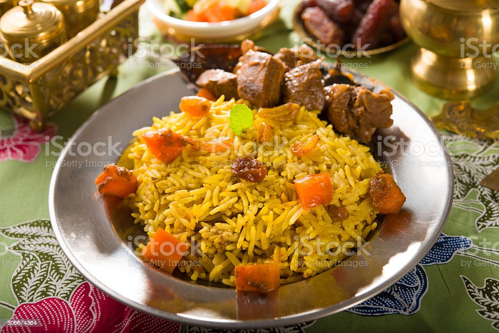 arab arroz, o Ramadã Comida do Oriente Médio - foto de acervo