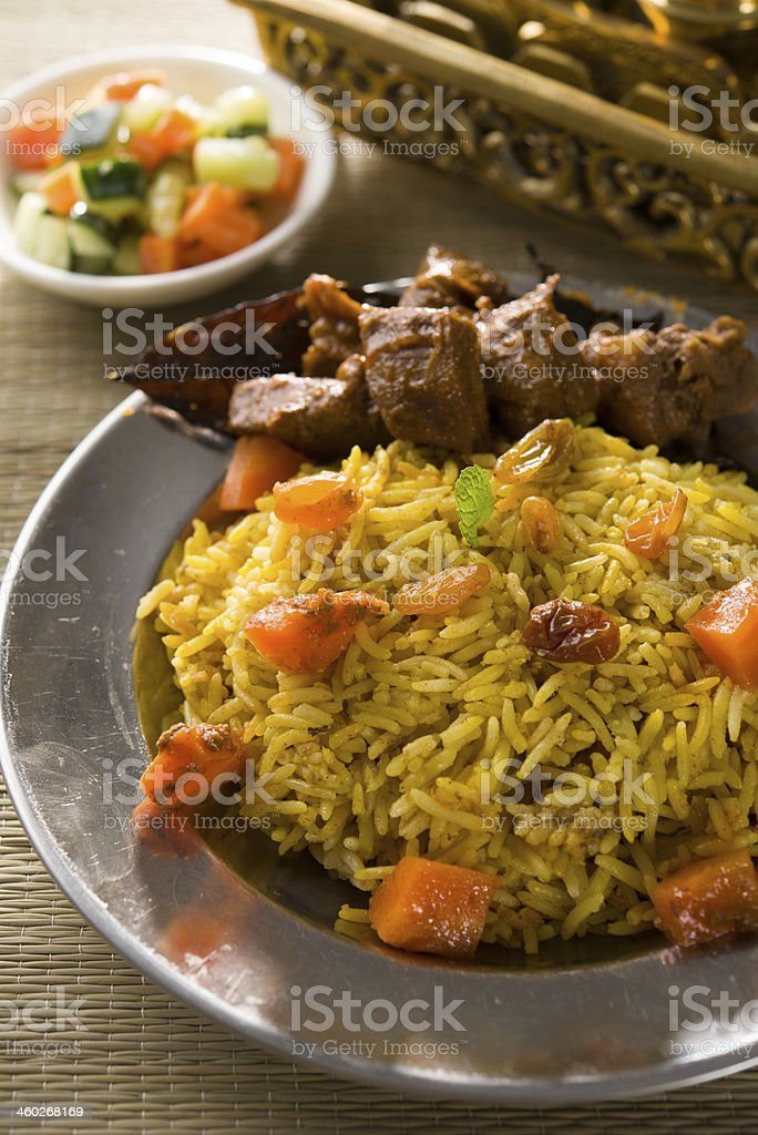 arab rice, ramadan foods in middle east stock photo