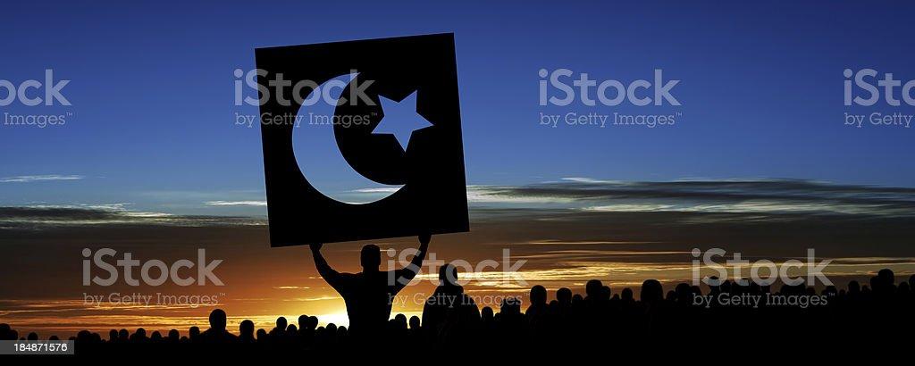 XXXL arab spring protestors royalty-free stock photo