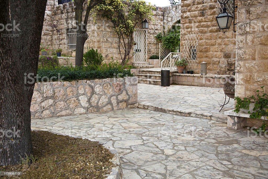 Arab Villa Courtyard stock photo