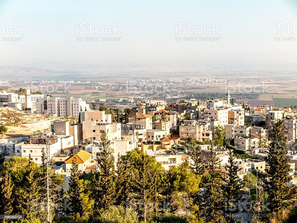 Arab village near Nazareth, Lower Galilee royalty-free stock photo