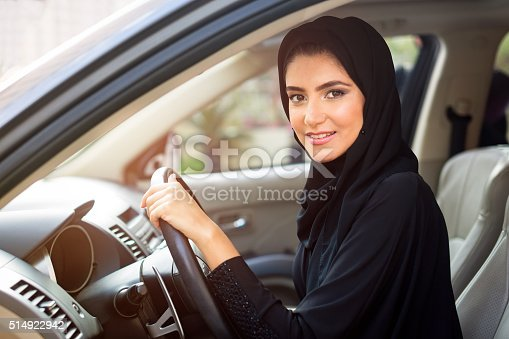 Arab women driving a car