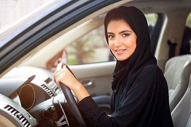 Arab Women Driving stock photo