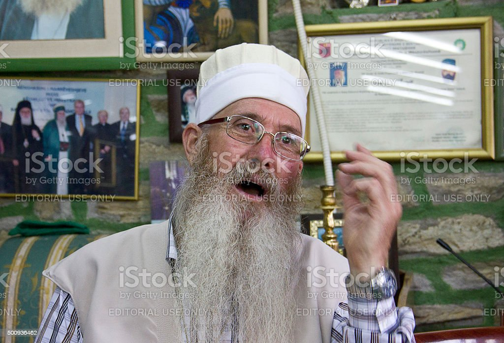 Arabati Baba Tekke Dervish stock photo
