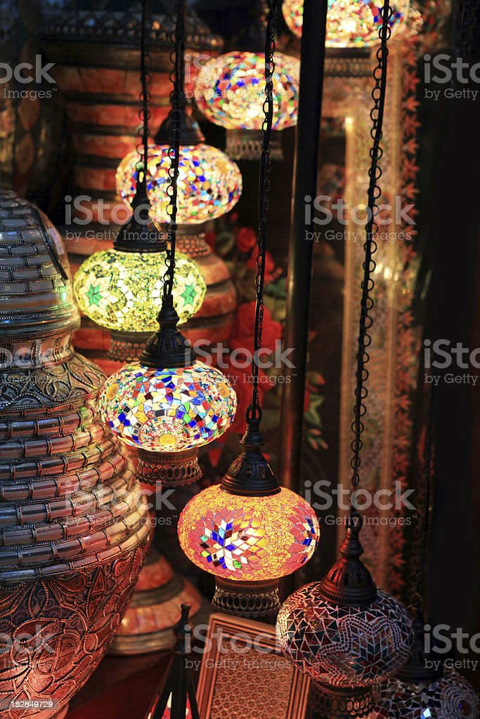 arabesque lantern royalty-free stock photo