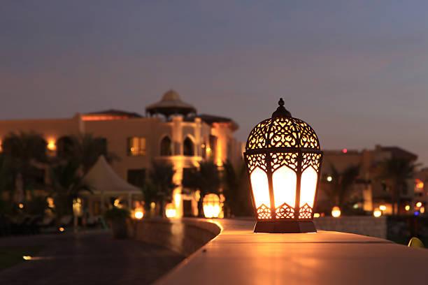 lanterna de arabesco - ramadã - fotografias e filmes do acervo