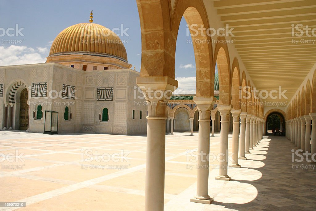 arabian architechture stock photo