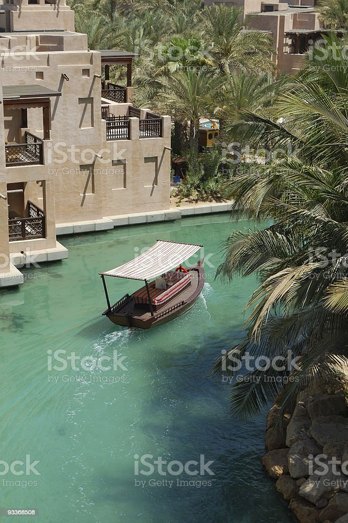 Arabian boat stock photo