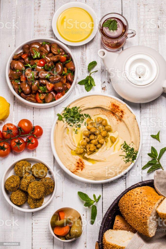 Arabian breakfast stock photo