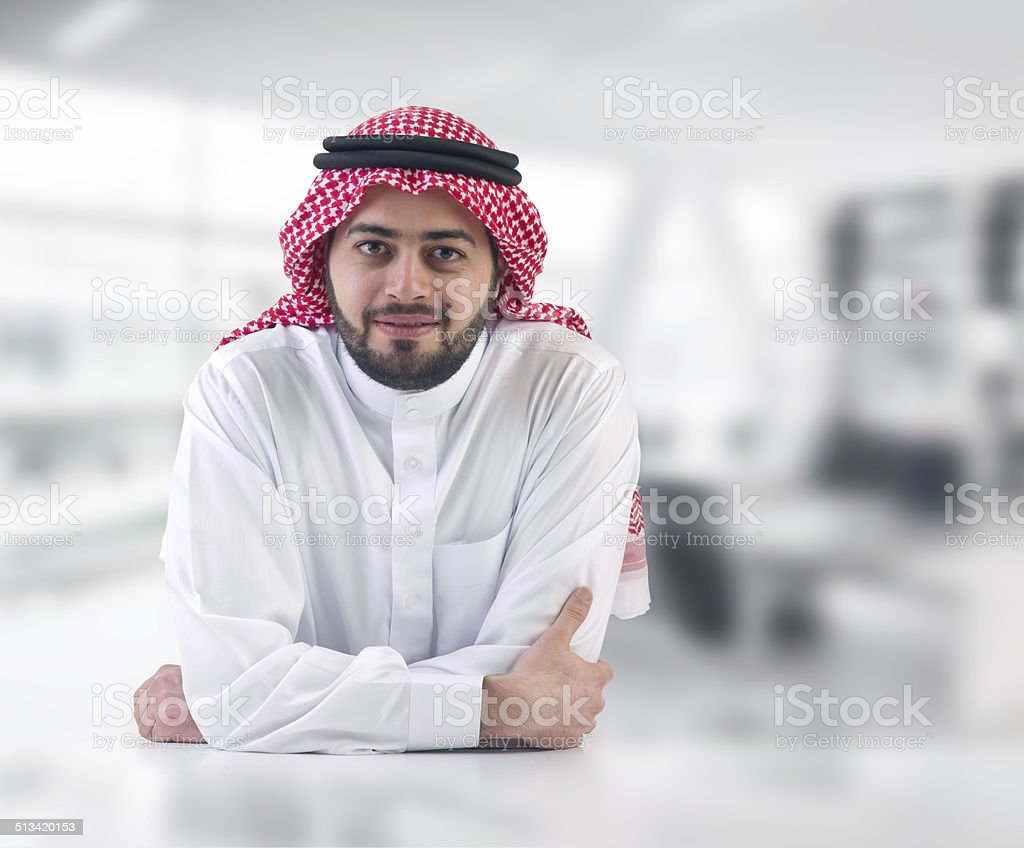 arabian business man executive in his office stock photo